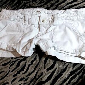 Hollister white cargo shorts Size 0